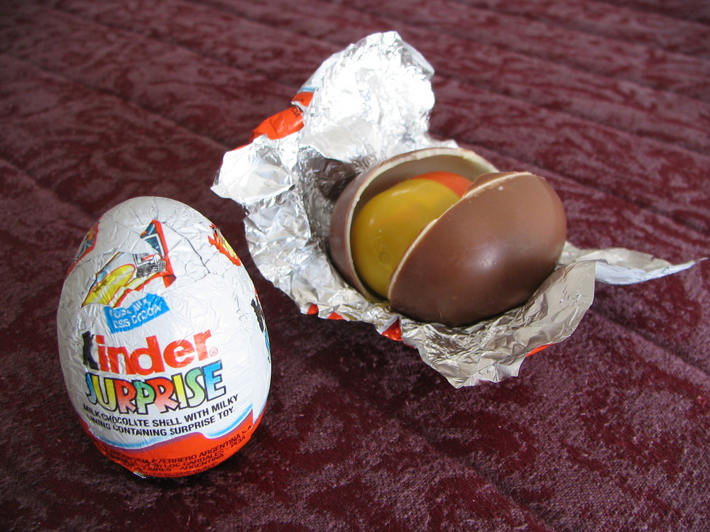 To us kinder surprise eggs are a tasty chocolate treat with a fun